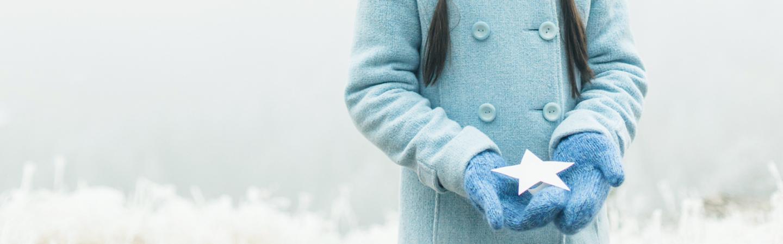 Weihnachtsumschläge in kühlen Farben - blau, türkis ?