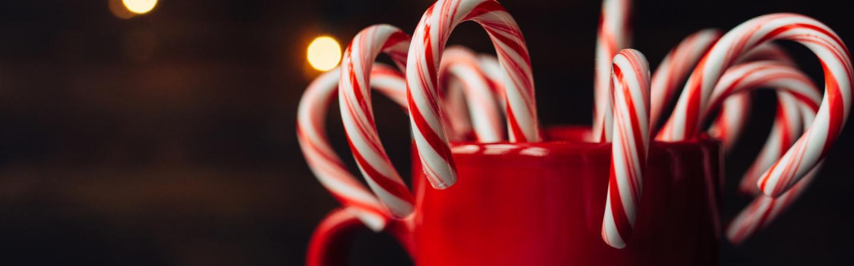 Christmas Candy - Weihnachtsumschläge rot, weiß